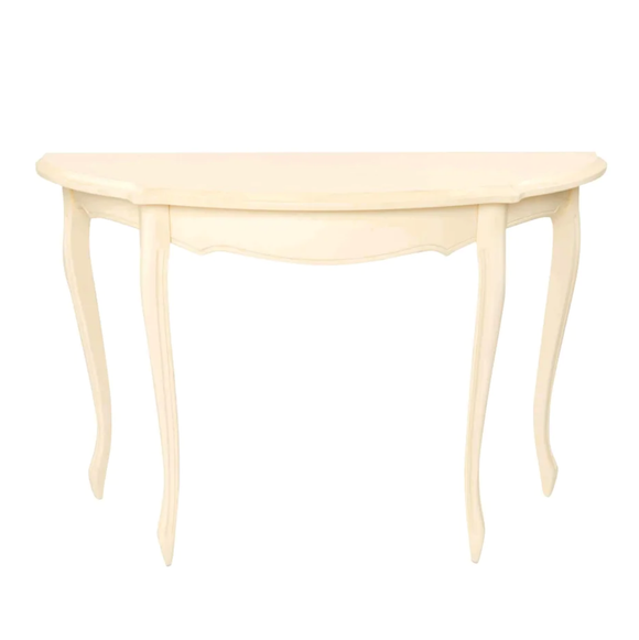 Provencale Ivory Half Moon Console Table
