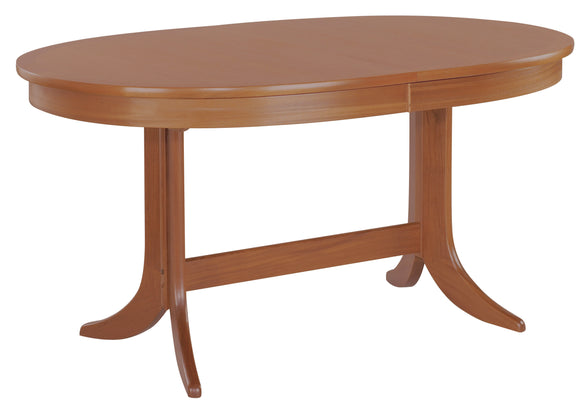 Classic Teak - Large Oval Dining Table on Pedestal
