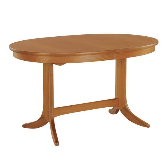 Classic Teak - Oval Dining Table on Pedestal