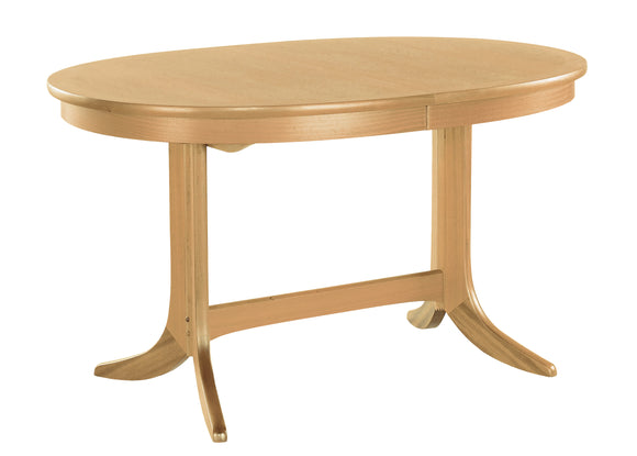 Shades Oak - Oval Dining Table on Pedestal