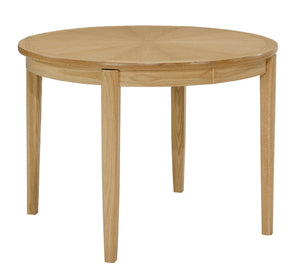 Shades Oak - Circular Dining Table on Legs