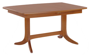 Classic Teak - Small Boat Shaped Dining Table on Pedestal