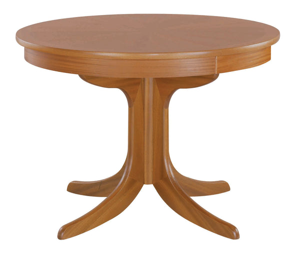 Classic Teak - Circular Dining Table with Sunburst Top on Pedestal