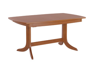 Classic Teak - Extending Boat Shaped Dining Table on Pedestal