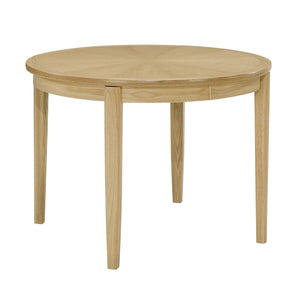Shades Oak - Circular Dining Table with Sunburst Top on Legs