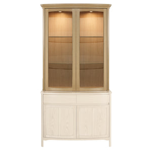 Shades Oak - Shaped 2 Glass Door Display Top Unit