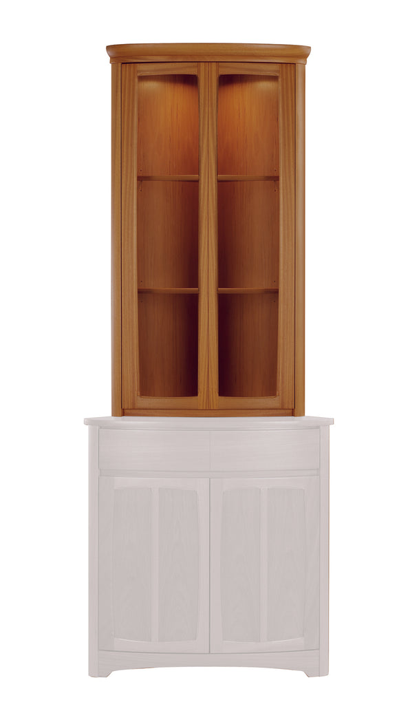 Shades Teak - Shaped Corner Display Top Unit
