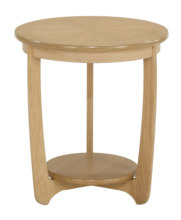 Occasionals Oak - Large Sunburst Top Round Lamp Table