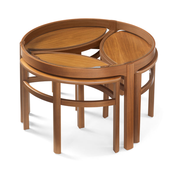 Occasionals Teak - Glass Top Trinity