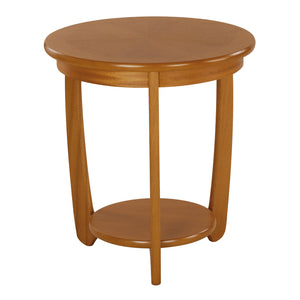 Occasionals Teak - Sunburst Top Round Lamp Table
