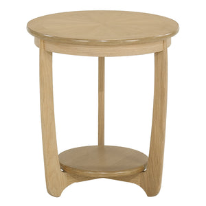 Occasionals Oak - Sunburst Top Round Lamp Table