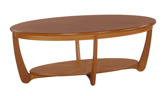 Occasionals Teak - Sunburst Top Oval Coffee Table