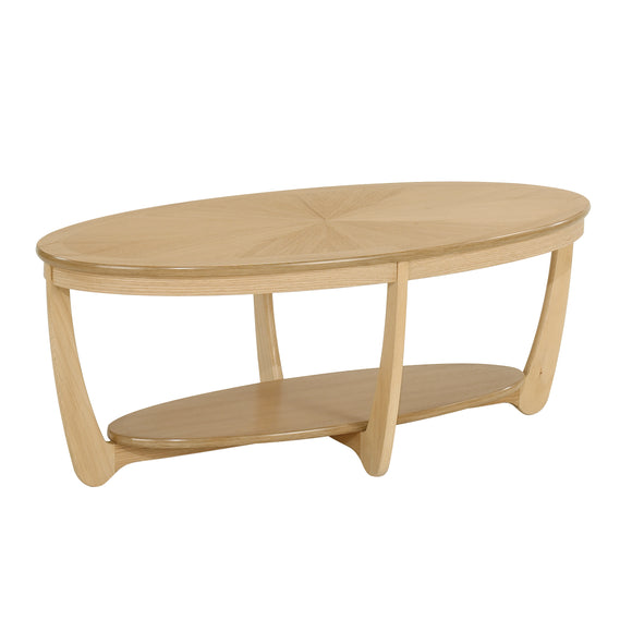 Occasionals Oak - Sunburst Top Oval Coffee Table