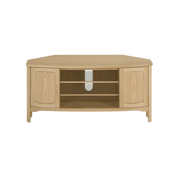 Shades Oak - Shaped Corner TV Unit
