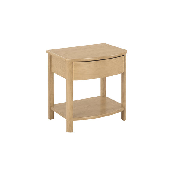 Occasionals Oak - Shaped Lamp Table