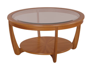 Occasionals Teak - Glass Top Round Coffee Table