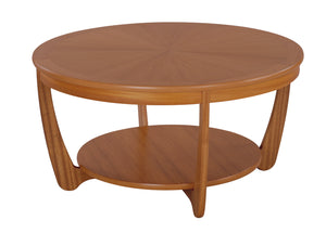 Occasionals Teak - Sunburst Top Round Coffee Table