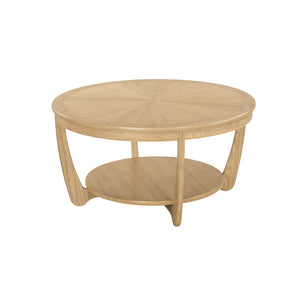 Occasionals Oak - Sunburst Top Round Coffee Table