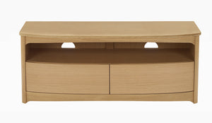 Shades Oak - Shaped TV unit with Drawers