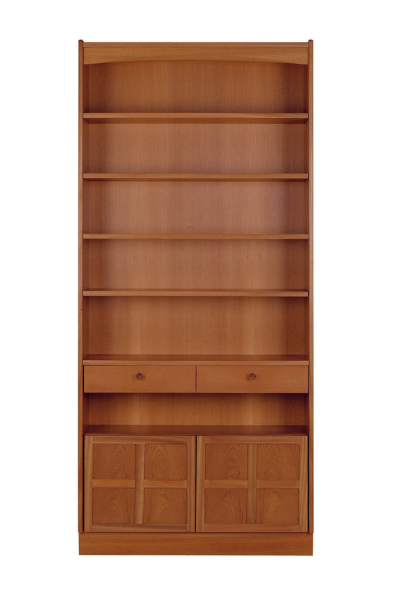Classic Teak - Tall Bookcase With Doors