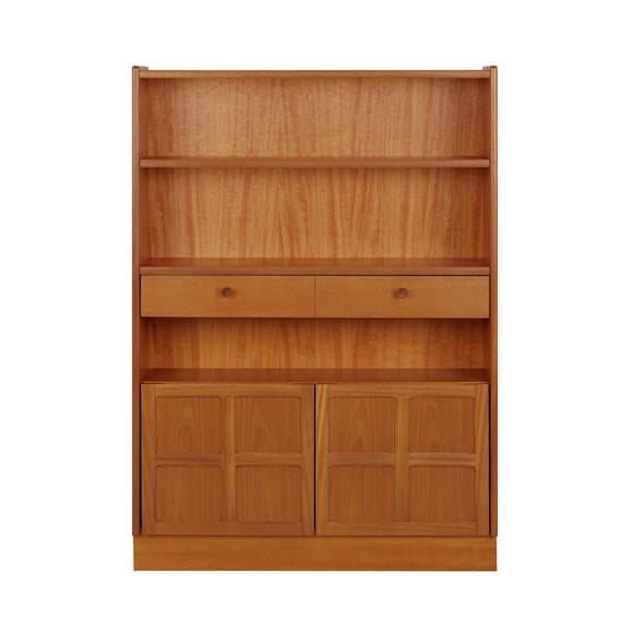 Classic Teak - Medium Bookcase With Doors