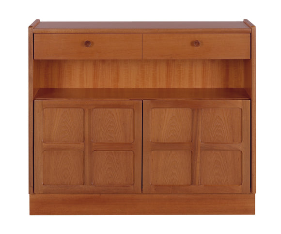 Classic Teak - Low Bookcase With Doors