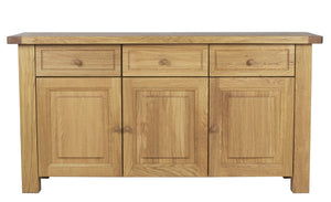 Bretagne 3 Door 3 Drawer Sideboard Oak
