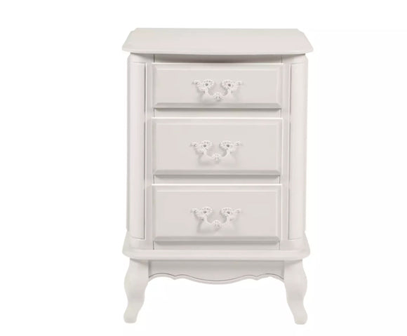 Provencale Dove Grey 3 Drawer Bedside Cabinet