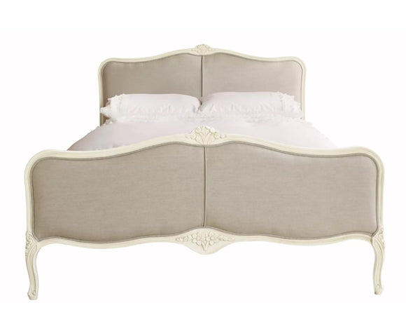 Provencale Ivory 5ft King Bedframe Linen Fabric