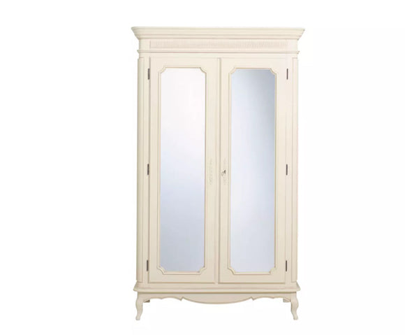 Provencale Ivory 2 Door Mirrored Wardrobe