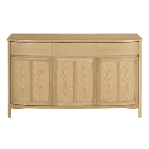 Shades Oak - Shaped 3 Door Sideboard