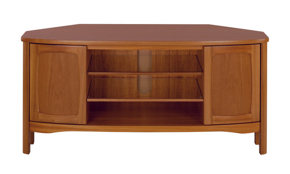 Shades Teak - Shaped Corner TV Unit