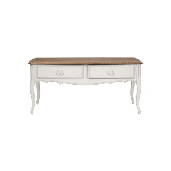 Provencale Oak and Dove Grey 2 Drawer Coffee Table