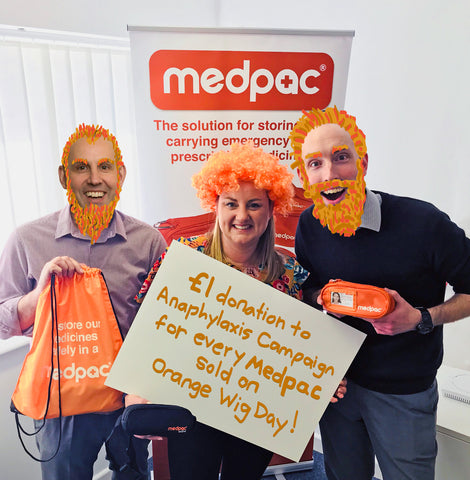 Get set for #OrangeWigDay to raise awareness of Anaphylaxis