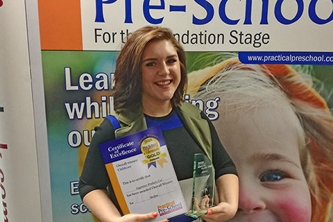 Proud winners at the Practical Pre-School Awards