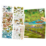 Create Your Dino Zoo Sticker Book, scenes and sticker sheets