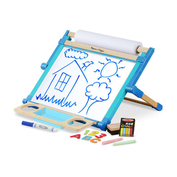 Deluxe Double-Sided Tabletop Easel, contents unboxed