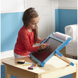 Deluxe Double-Sided Tabletop Easel, little girl with chalkboard