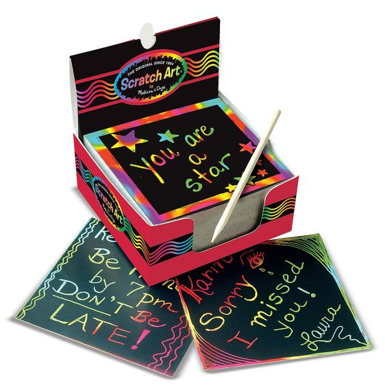 Mini Scratch Art Notes (Box of 125), displayed open