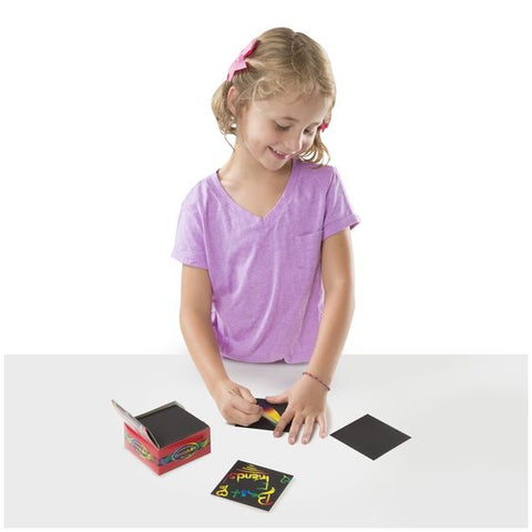 Mini Scratch Art Notes (Box of 125) being used by child