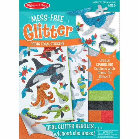 Mess free glitter ocean foam stickers in packaging