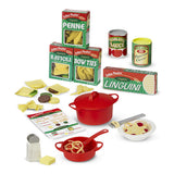 Melissa and Doug Pasta Play Food Set, some contents unboxed