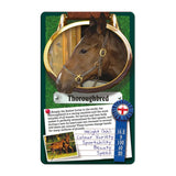Horses and Ponies -Top Trumps Game, thoroughbred card
