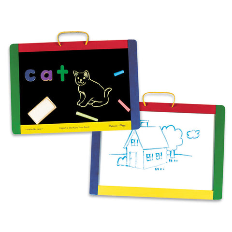 Magnetic Chalkboard and Dry-Erase Board