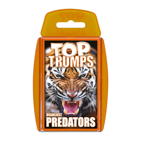 Deadliest Predators -Top Trumps Game, front of box