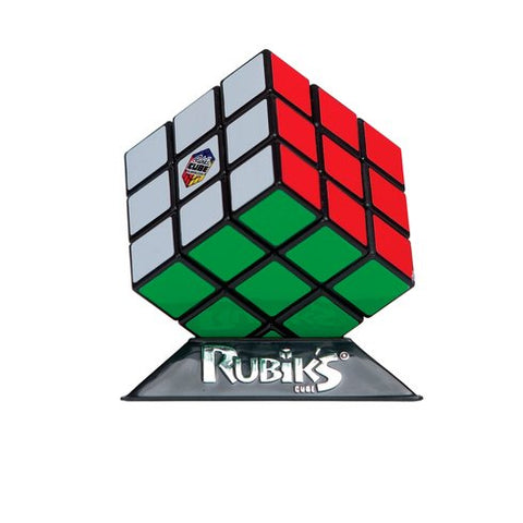 Rubik's Cube, on stand, unboxed