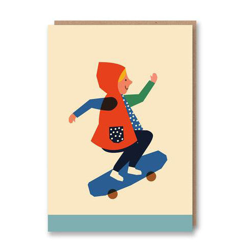 Skater Girl Greetings Card