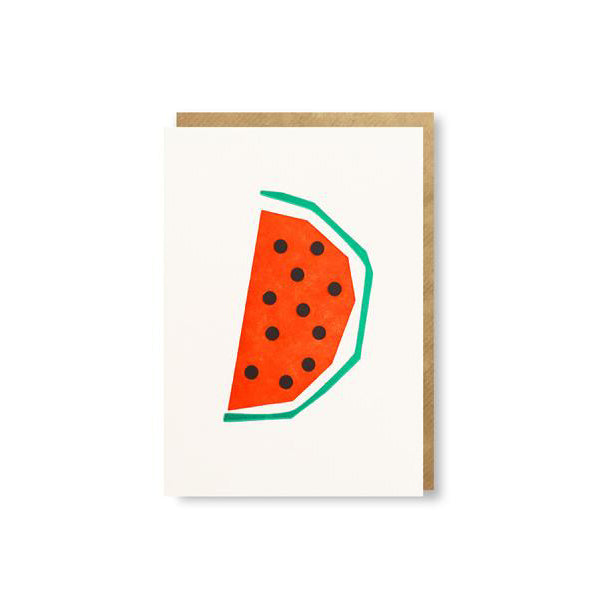 Water Melon Greetings Card