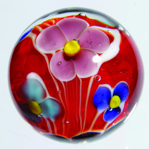 Handmade Dahlia Marble (Small) 16mm