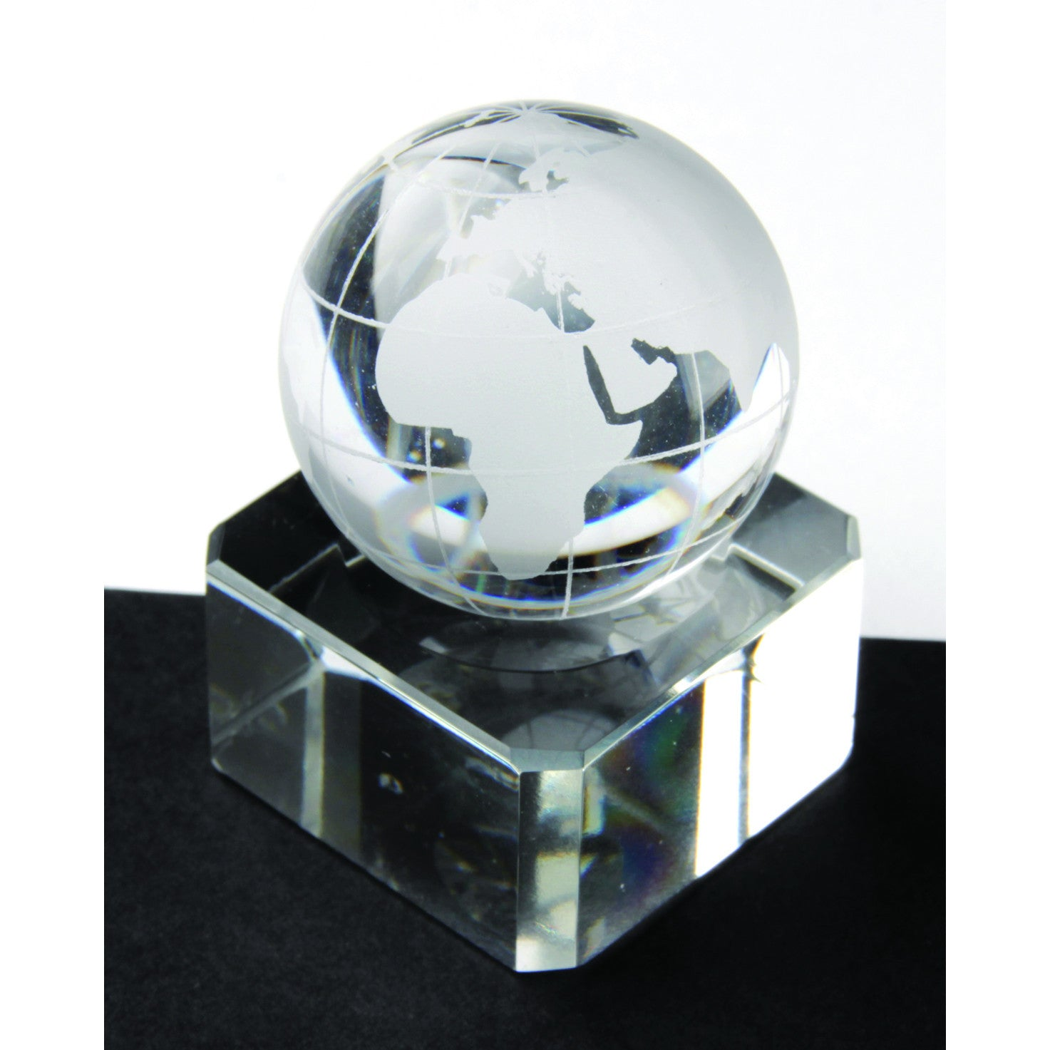 Crystal World Map Marble 30mm
